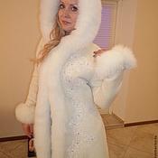 Одежда ручной работы. Ярмарка Мастеров - ручная работа Пальто с вышивкой и меховой отделкой. Handmade.
