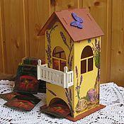 Для дома и интерьера handmade. Livemaster - original item tea house. decoupage. lavender. country style. Handmade.