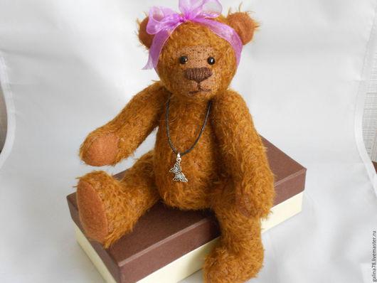 Мишки Тедди ручной работы. Ярмарка Мастеров - ручная работа. Купить мишка Сонечка. Handmade. Рыжий, хендмейд, глаза стеклянные