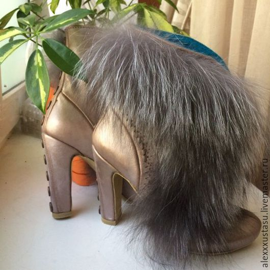 Обувь ручной работы. Ярмарка Мастеров - ручная работа. Купить Ботильоны Funny. Handmade. Ботильоны, женские сапожки, голубой