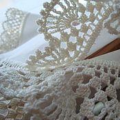 Для дома и интерьера ручной работы. Ярмарка Мастеров - ручная работа Текстильная салфетка с ручным кружевом. Handmade.