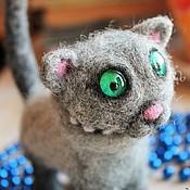 """Куклы и игрушки ручной работы. Ярмарка Мастеров - ручная работа Войлочная игрушка """"Котик Чудик"""". Handmade."""