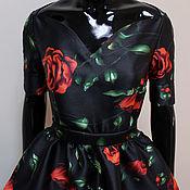 """Платья ручной работы. Ярмарка Мастеров - ручная работа Вечернее платье в пол """"Цветущая роза"""" по мотивам Dolce&Gabbana. Handmade."""