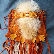 Classic Bag handmade. Livemaster - original item Leather boho handbag