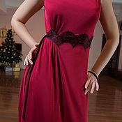 Одежда ручной работы. Ярмарка Мастеров - ручная работа Танго платье с шантильи. Handmade.