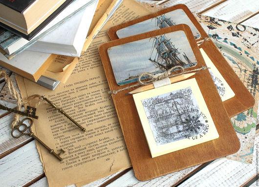 Подарки для мужчин, ручной работы. Ярмарка Мастеров - ручная работа. Купить мужской сувенирный магнит КОРАБЛИ 001. Handmade.