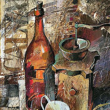 Картины и панно ручной работы. Ярмарка Мастеров - ручная работа Бутылка кальвадоса. Handmade.