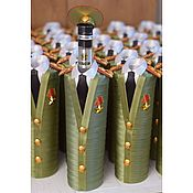 Сувениры и подарки handmade. Livemaster - original item Gift the ensign Cover to the bottle. A gift for a military man. Handmade.