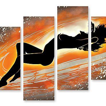 """Картины и панно ручной работы. Ярмарка Мастеров - ручная работа Модульная картина """"Изгиб"""". Handmade."""