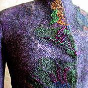 """Одежда ручной работы. Ярмарка Мастеров - ручная работа Жакет шерстяной """"Сад цветов"""".. Handmade."""