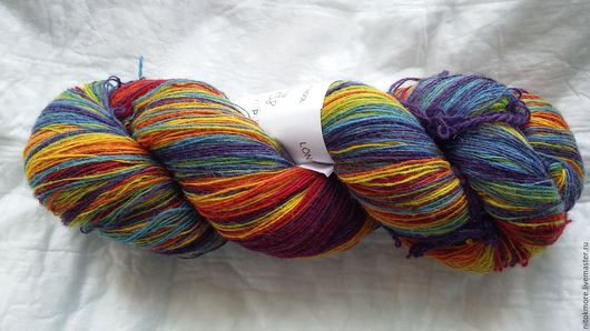 Вязание ручной работы. Ярмарка Мастеров - ручная работа. Купить Кауни Rainbow 8/1. Handmade. Комбинированный, овечья шерсть, пряжа