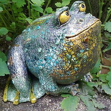 Для дома и интерьера ручной работы. Ярмарка Мастеров - ручная работа жаба садовая. Handmade.