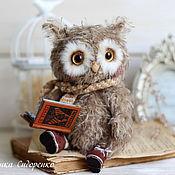 Куклы и игрушки ручной работы. Ярмарка Мастеров - ручная работа Совенок Филя авторская игрушка тедди. Handmade.