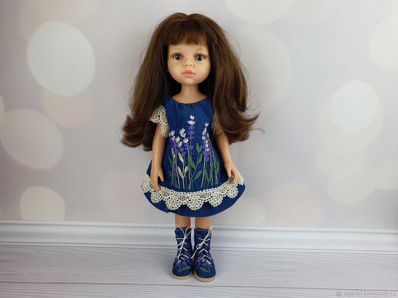 комплект: джинсовое платье и ботиночки, Одежда для кукол, Чита,  Фото №1