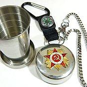 Сувениры и подарки handmade. Livemaster - original item Glass with symbols of the Soviet Union