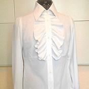 Одежда handmade. Livemaster - original item Blouse with frill 38,40,42,44 ,46,48,50... / white. Handmade.