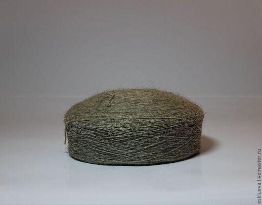 Вязание ручной работы. Ярмарка Мастеров - ручная работа. Купить Шерсть овечья в мотках, серо-бежевая, вес 550-700 гр. Handmade.