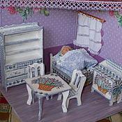"""Куклы и игрушки ручной работы. Ярмарка Мастеров - ручная работа Набор кукольной  мебели с комодом в стиле """"Прованс"""".. Handmade."""