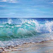 """Картины и панно ручной работы. Ярмарка Мастеров - ручная работа Пейзаж """"Морской прибой"""". Handmade."""