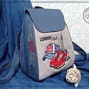 Сумки и аксессуары handmade. Livemaster - original item Textile backpack SP-M