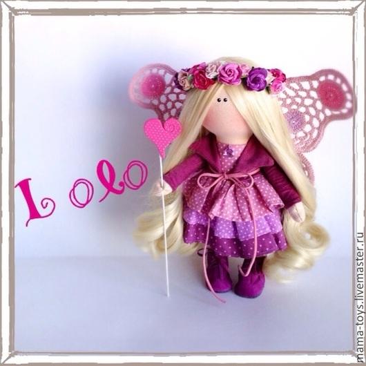 Коллекционные куклы ручной работы. Ярмарка Мастеров - ручная работа. Купить Маленькая интерьерная кукла Лоло. Handmade. Интерьерная кукла