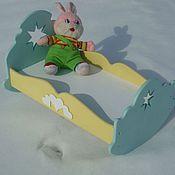 Куклы и игрушки ручной работы. Ярмарка Мастеров - ручная работа Кроватка качалка для кукол «Вифлиемская звезда». Handmade.