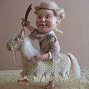 Куклы и игрушки ручной работы. Ярмарка Мастеров - ручная работа Кукла Принц на белом коне. Handmade.