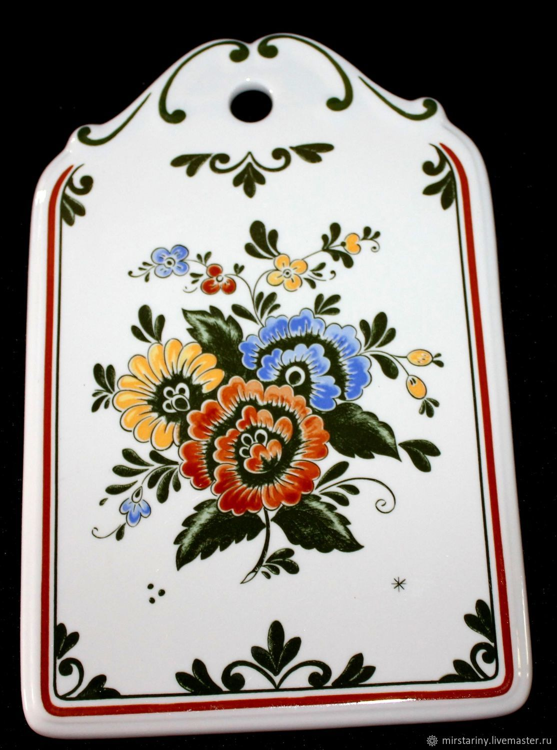 Cheese Board, decor 'Alt Amsterdam', Villeroy Boch, Germany, Vintage kitchen utensils, Moscow,  Фото №1