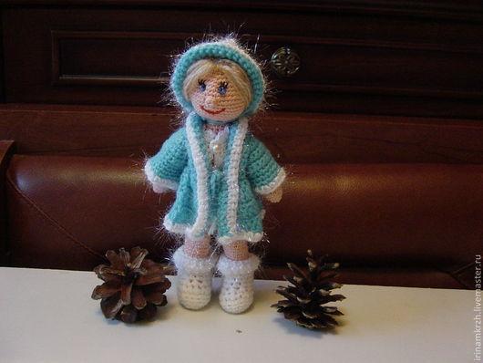 Новый год 2017 ручной работы. Ярмарка Мастеров - ручная работа. Купить Снегурочка. Handmade. Вязаная снегурочка, снегурочка, вязаная девочка