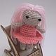 """Сказочные персонажи ручной работы. Ярмарка Мастеров - ручная работа. Купить Кукла """"Розовая леди"""". Handmade. Кукла, амигуруми"""
