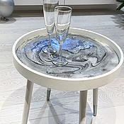 Для дома и интерьера handmade. Livemaster - original item Round table made of epoxy resin. Handmade.