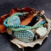 Украшения ручной работы. Ярмарка Мастеров - ручная работа украшение браслет керамика, весна. Handmade.