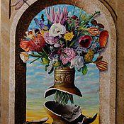 Картины и панно ручной работы. Ярмарка Мастеров - ручная работа Натюрморт с цветами. Handmade.