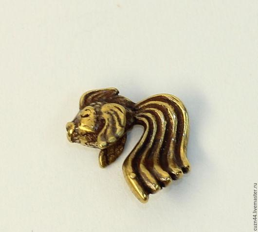 Миниатюрные модели ручной работы. Ярмарка Мастеров - ручная работа. Купить Золотая рыбка малая. Handmade. Литье, литье из латуни
