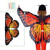 Карнавальные костюмы ручной работы. Ярмарка Мастеров - ручная работа Комплект для пошива: Крылья бабочки из шифона / Бабочка Шоколадница. Handmade.