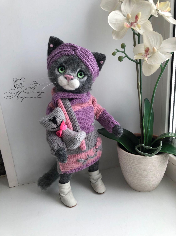 Кошечка Вива, Войлочная игрушка, Энгельс,  Фото №1
