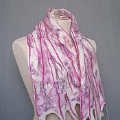 """Аксессуары ручной работы. Ярмарка Мастеров - ручная работа валяный шарф """"розовые полосочки"""". Handmade."""