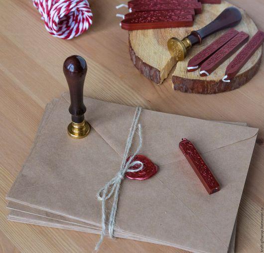 Упаковка ручной работы. Ярмарка Мастеров - ручная работа. Купить Конверт из крафт-бумаги формат С5. Handmade. Бежевый, конфеты