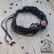 Украшения handmade. Livemaster - original item Choker leather Blue. Handmade.