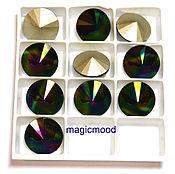Материалы для творчества handmade. Livemaster - original item 1 PCs 12 mm Rivoli 001RABDK Swarovski Rainbow Rivoli Swarovski Dark. Handmade.