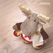 """Куклы и игрушки ручной работы. Ярмарка Мастеров - ручная работа Новогодняя игрушка """"Лосик"""". Handmade."""