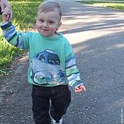 Работы для детей, ручной работы. Ярмарка Мастеров - ручная работа джемпер пуловер По дорогам Италии вязаный детский для мальчика. Handmade.