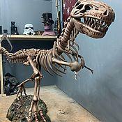 Скульптуры ручной работы. Ярмарка Мастеров - ручная работа Декорации, декор, дизайн, бутафория, Скелет динозавра Рекса. Handmade.