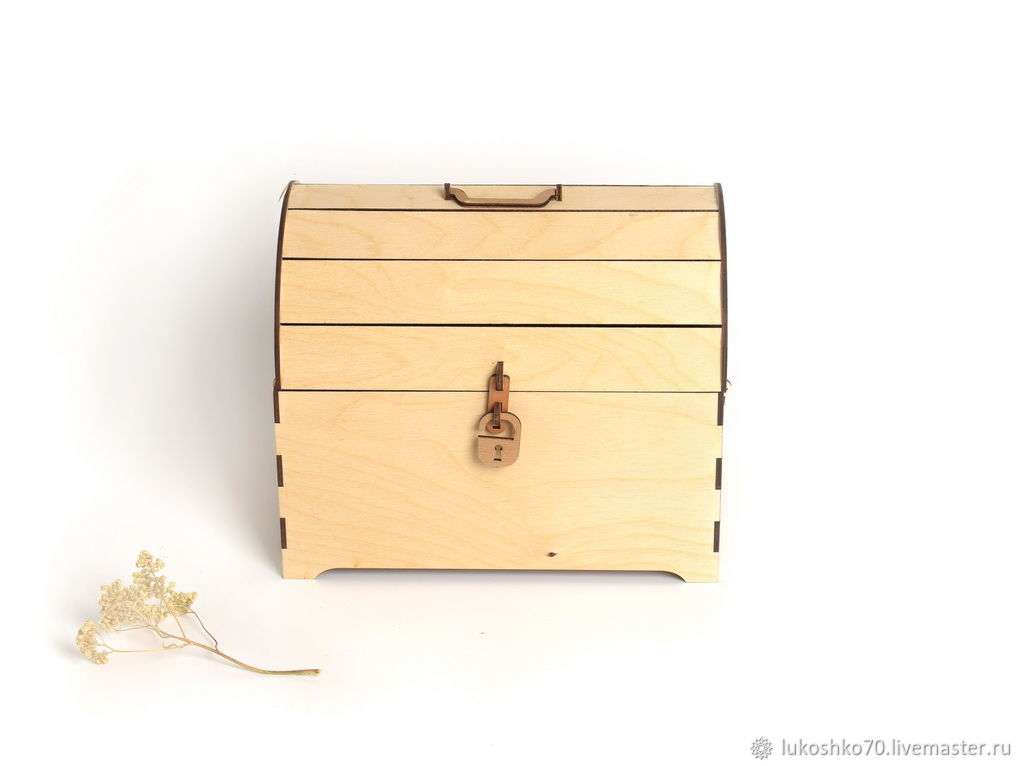 Chest, wooden, large. The box of wood. Gift box, Box, Tomsk,  Фото №1