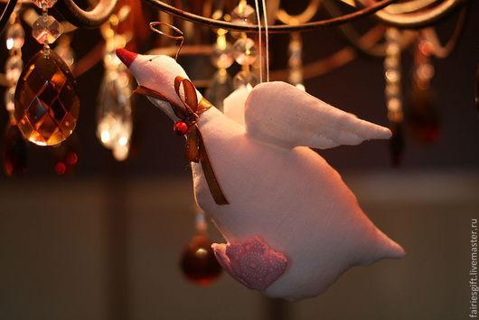 Куклы Тильды ручной работы. Ярмарка Мастеров - ручная работа. Купить Рождественский Гусь тильда. Handmade. Белый, Гусь Тильда