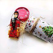 Народная кукла ручной работы. Ярмарка Мастеров - ручная работа Елочная игрушка - барышня. Handmade.