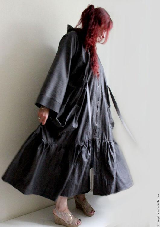 """Верхняя одежда ручной работы. Ярмарка Мастеров - ручная работа. Купить Летнее плащ-пальто размера плюс """"Леди бохо 2"""". Handmade."""