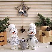 Подарки к праздникам handmade. Livemaster - original item Snowmen in Scandinavian style-Christmas Souvenirs. Handmade.