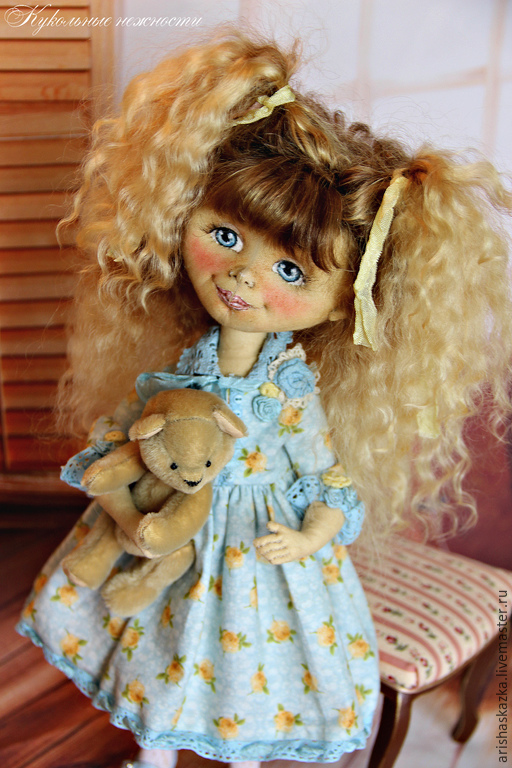 Коллекционные куклы ручной работы. Ярмарка Мастеров - ручная работа. Купить Даша . Кукла авторская . Кукла ручной работы . Кукла  текстильная. Handmade.