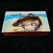 Для дома и интерьера handmade. Livemaster - original item Men`s box,Happiness, fisherman, copernica. Handmade.
